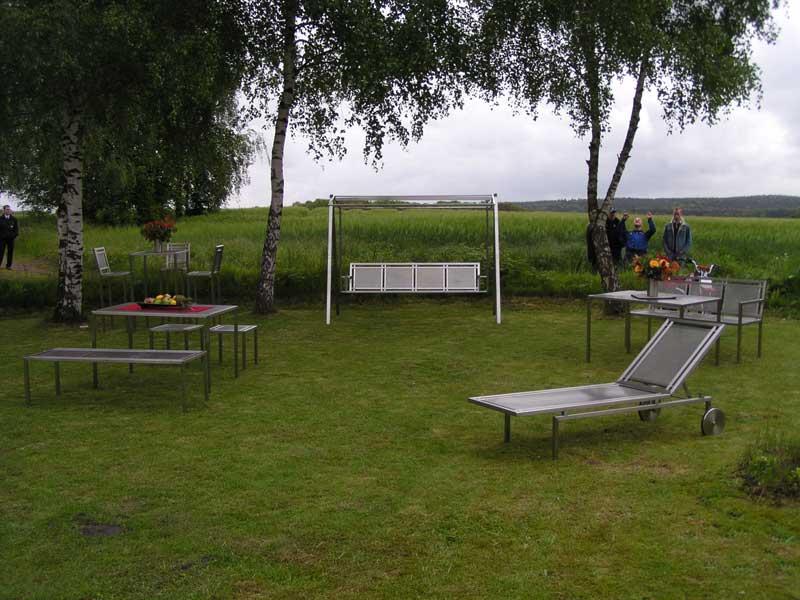 Design Gartenmöbel aus Edelstahl